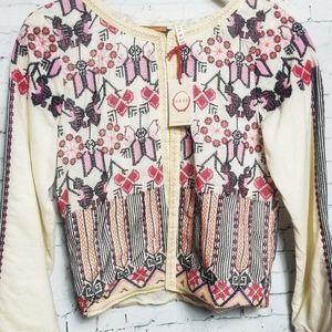 NWT Raga Embroidered Cream Jacket